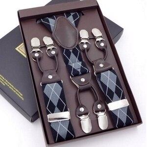 Image 5 - 63 Colors Mens Suspenders  3/6 Clips Braces Leather Suspensor Adjustable Belt Strap Bretelles Vintage Mens Suspender For Skirt