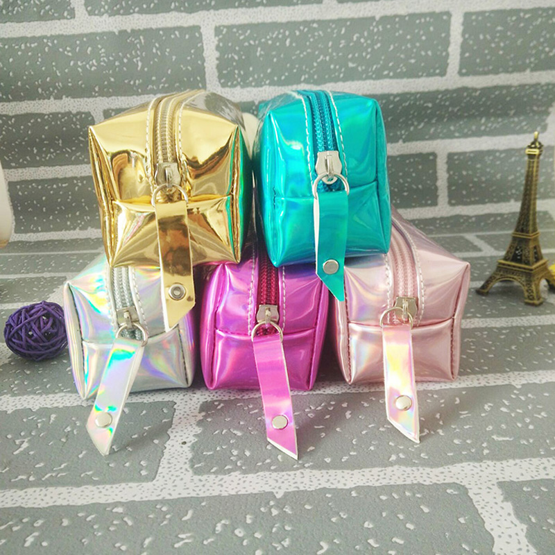 Fashion Laser Glitter Multicolor Kawaii Pencils Case Large Capacity Stationery Bags Pencil Bag Box School Supplies Cosmetic Case