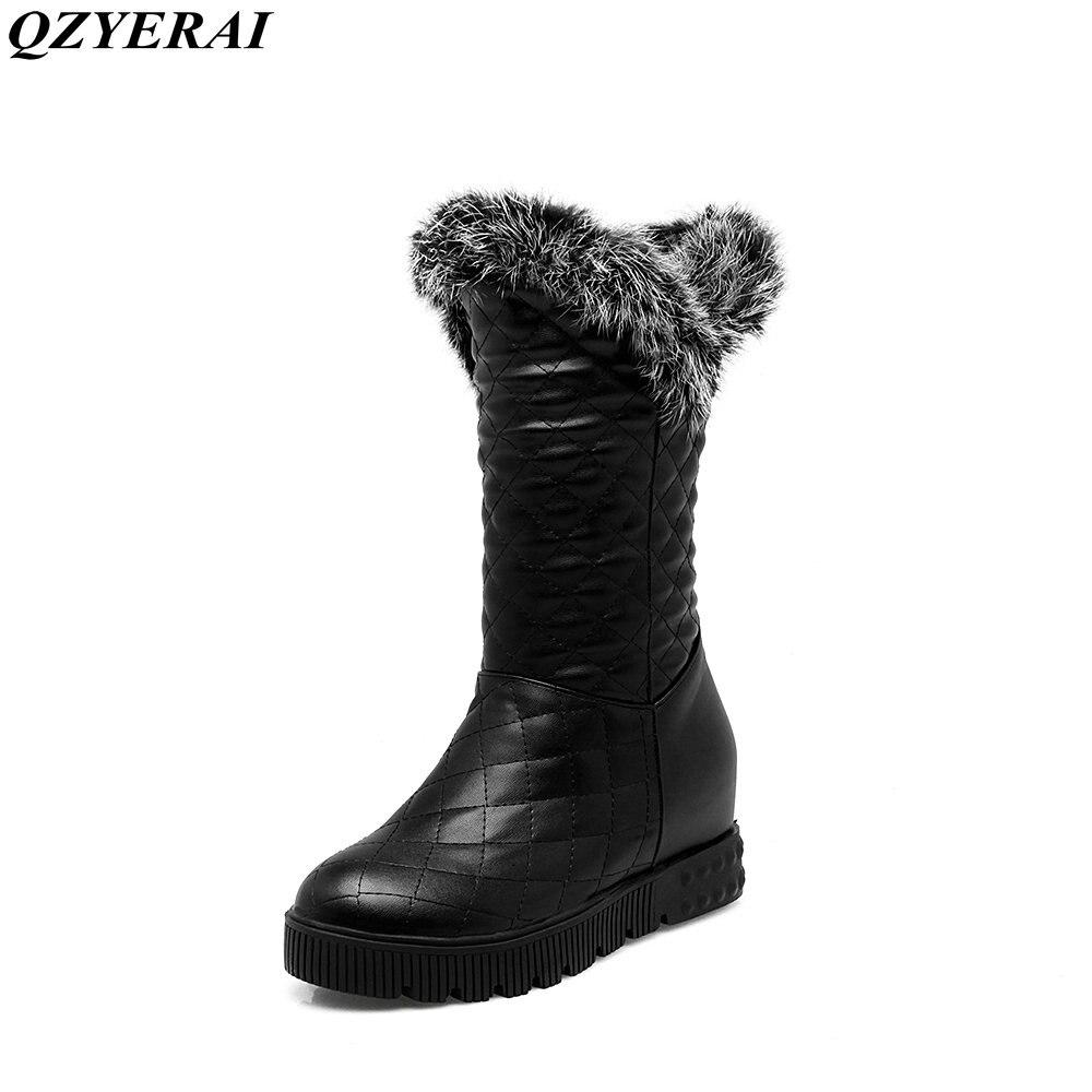 QZYERAI winter sexy women snow boots warm fashion brand women shoes big size 34-43