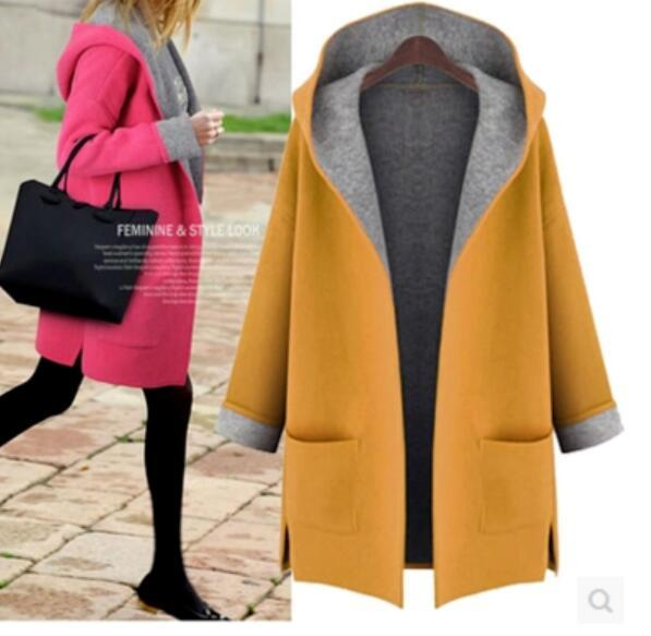 European style new Autumn Women Cardigan jacket Long Sleeve Hooded Fashion Outerwear Plus Size 5XL,S12