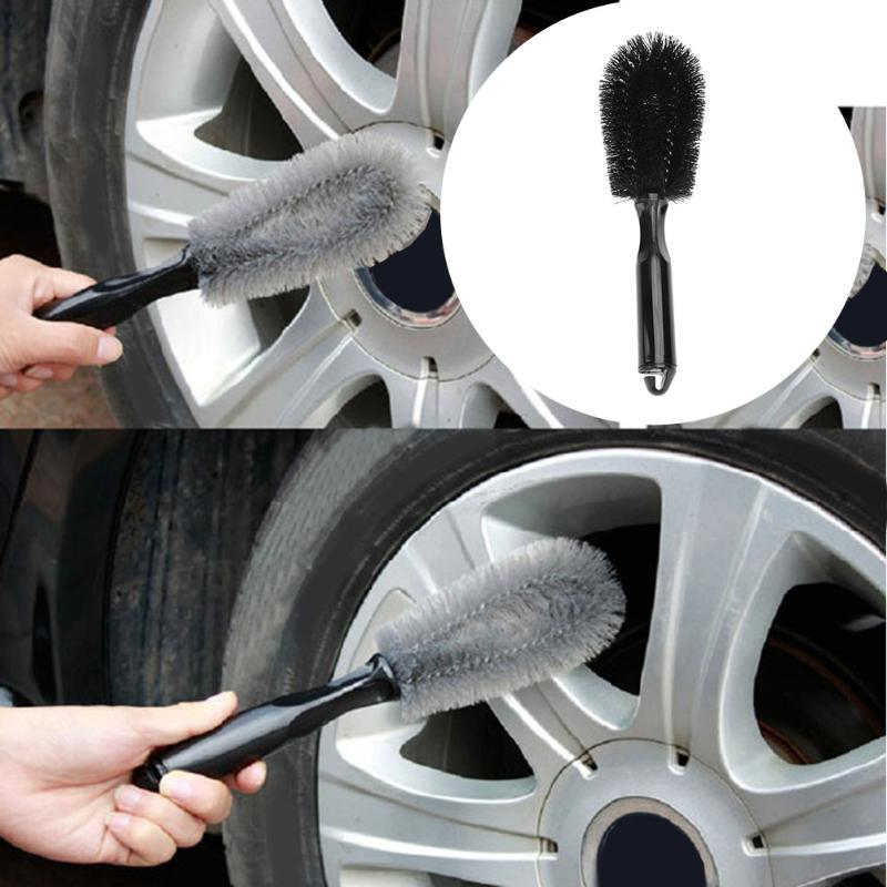 Car Wash Wheel Brush Handle for Vehicle Wheel Rim Tire Cleaning and Washing