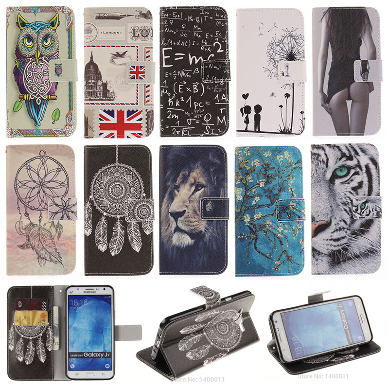 Case For Samsung Galaxy J1 J3 J5 2016 Stand Fashion Flip Leather Cover Case For Samsung J7 / J5 Prime / J320F cell phone Cases