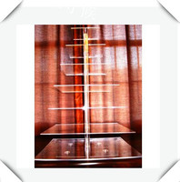 Hot Selling Goedkope Clear 7 Tier Vierkante Acryl Wedding Party Cupcake Display Stand Acryl Cupcake Stand bruiloft decoratie