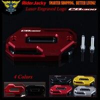 Red Motorcycle Front Brake Master Cylinder Fluid Reservoir Cover Oil Cap For HONDA CB 1300 CB1300