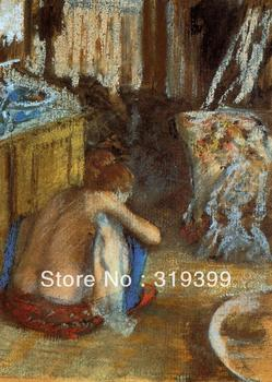 100% handmade Oil Painting Reproduction on Linen Canvas,Woman Squatting-1 by edgar degas ,Free DHL Shipping,canvas oil painting
