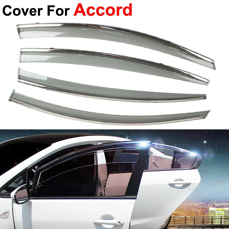 4pcs lot Awning Shelters Vent Rain Sun Shield Window Visors For Honda  Accord 2013 2014 2015 Covers Car Styling Guard-in Awnings   Shelters from  Automobiles ... 33e453b184b