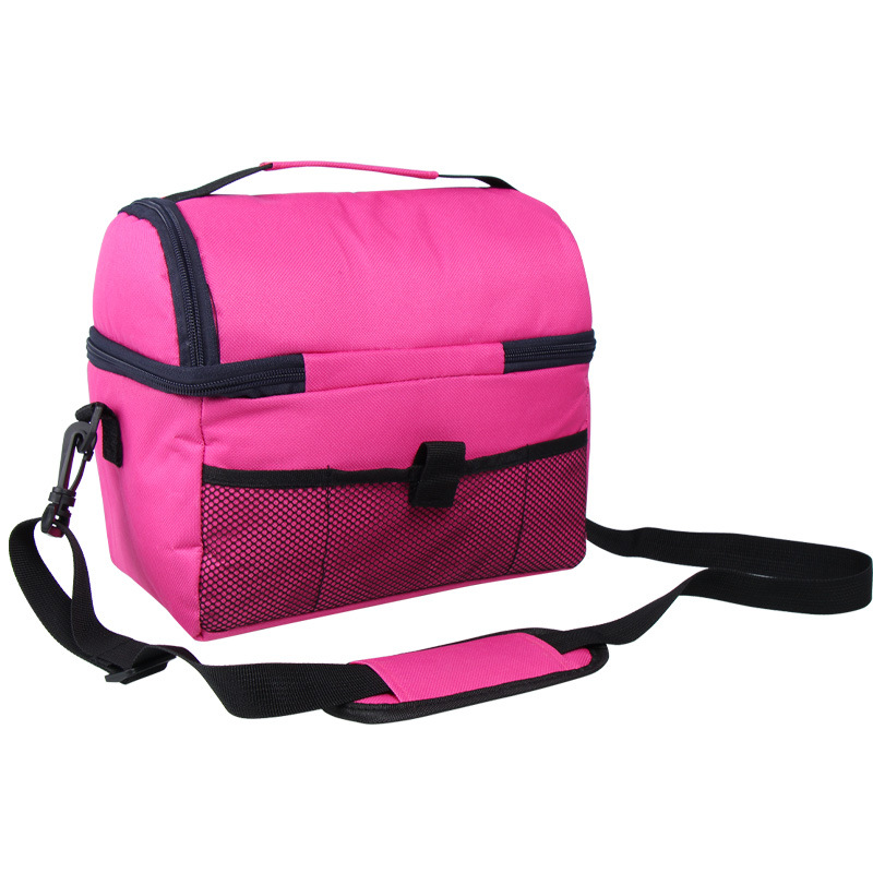Image 5 - camping picnic bag Lunch bag meal basket portable insulation package double layer fresh keeping bag beer fridge portable coolers-in Picnic Bags from Sports & Entertainment