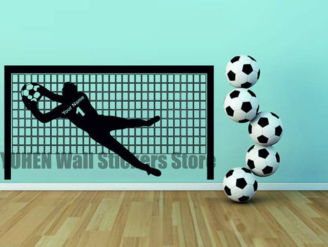 Wall Decal Soccer Goal Wall Decal  Football Goal Decals Stickers  Sports  Kids Boys Room
