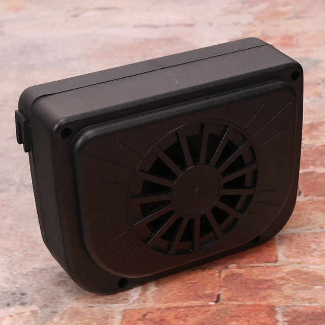 New Solar Power Car Window Fan Auto Ventilator Cooler Air Vehicle Radiator vent With Rubber Stripping