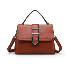 women shoulder bag handbag 2018 New  Fashion Vintage Leather crossbody bag Flap high quality tote bag ladies men fashion business handbag dual use handbag shoulder bag tote flap bag chest bag