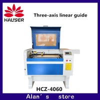 HCZ Three-axis linear guide 100W 4060 laser engraving machine CO2 laser cutter machine 220V/110V DSP system engraver machine