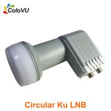 Circular Ku Band Twin LNB High Gain Good Quality with Waterproof HD Digital Satellite 2 Output LNBF hot selling