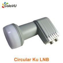 Circular Banda Ku Doble LNB Alta Ganancia mejor Calidad con Impermeable HD Digital Satélite LNBF Doble Salida venta caliente
