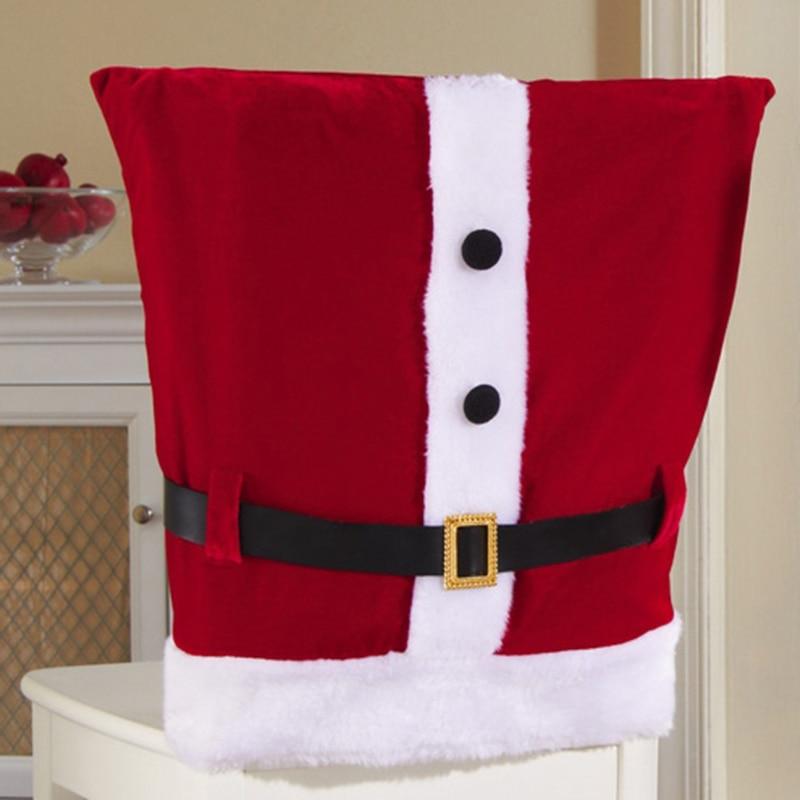 Fundas para sillas silla cubre adornos navidad mu eco de - Adornos navidenos para sillas ...
