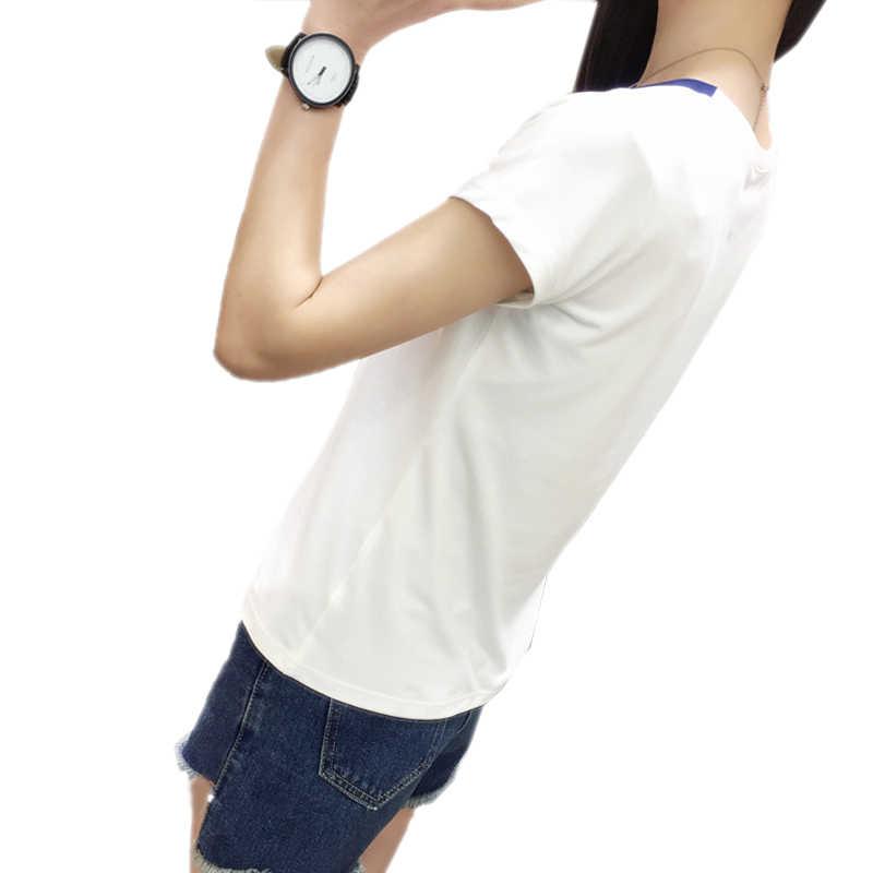 ファッション夏の綿の女性トップス女性ソリッドパッチワークカジュアルトップ Tシャツ服女性服 V ネック半袖 tシャツ