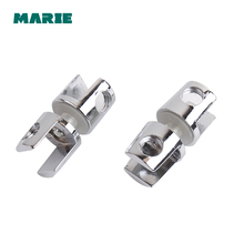 Shower Door Zinc Alloy Glass-to-Glass Clamp Clip Hinge for 10mm - 12mm Glass