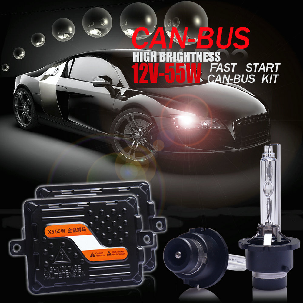 Top qualité 12 V/55 W Ultra CANBUS/rapide lumineux voiture HID phare kit xénon Ballast D2H/H1/H7/H11/9005/9012/HIR2/H4 bi-xénon