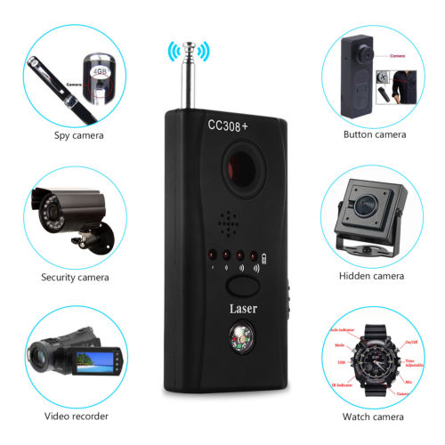 CC308 Full Range Wireless Camera GPS Anti-Spy Bug Detect RF Signal Detector GSM Device Finder FNR CC308+