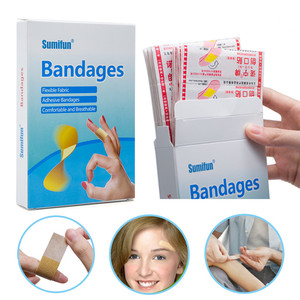 100PCs Waterproof Breathable Aid Hemostasis Adhesive Bandages First Aid Emergency Kit For Kids Children Household