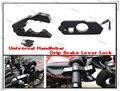 Universal CNC Aluminum Brake Lever Handle Throttle Grip Security Lock For Motorcycle/Bike Handlebar Lever Lock Bars in Black