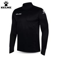 Kelme K15Z304 Uomini Calcio Poliestere Collare Del Basamento Sharkskin Formazione a maniche lunghe Pullover Nero