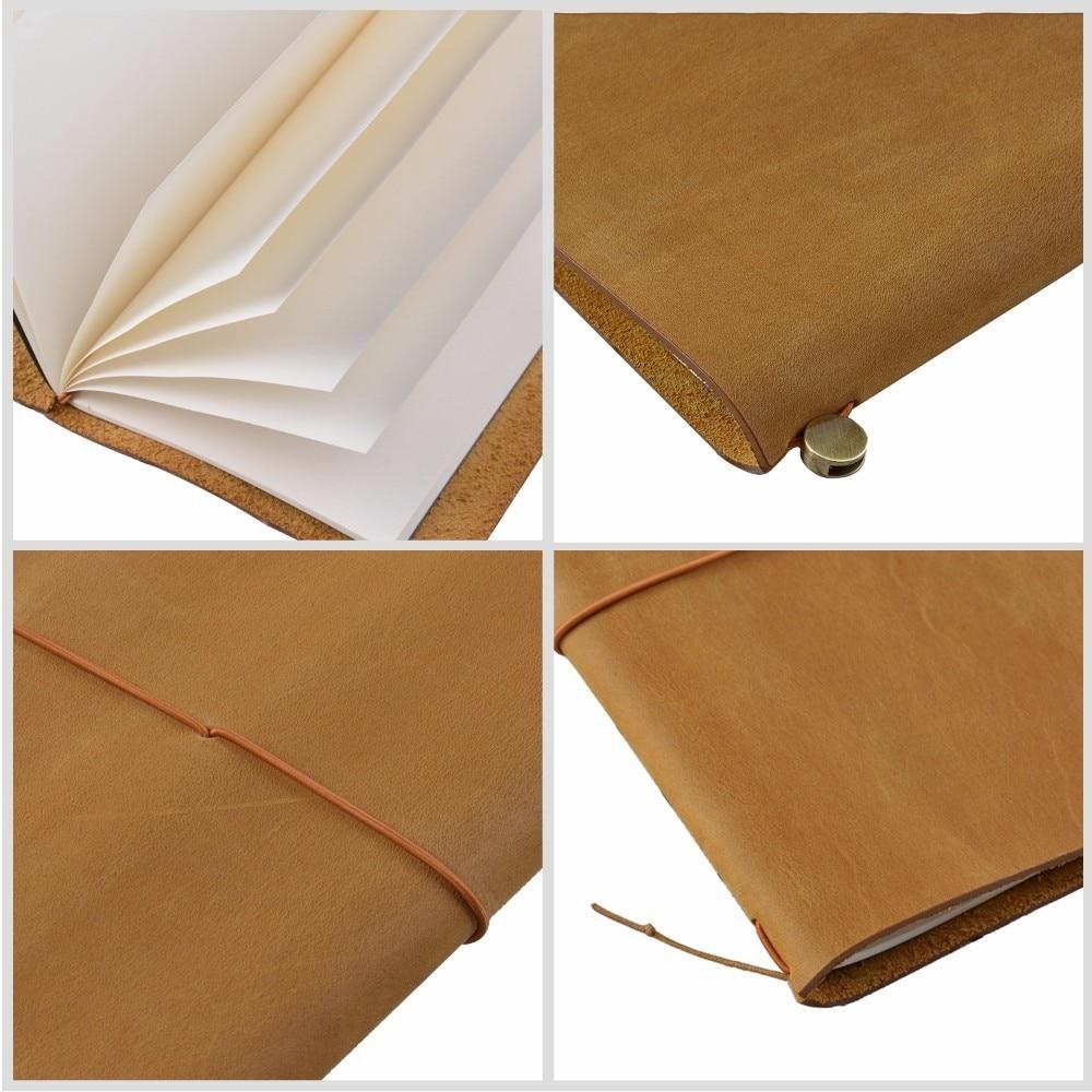 100% Äkta Läder Notebook Planner Handgjorda Travel Bullet Journal - Block och anteckningsböcker - Foto 4