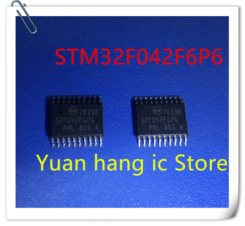 10pcs/lot STM32F042F6P6 IC MCU 32BIT 16KB FLASH 20TSSOP 32F042 STM32F042 32F042F6P6 NEW