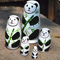 5 pcs/set Matryoshka Gift 5 In 1 Wooden Russian Hand Painted Nesting Dolls Cartoon Handmade Souvenirs Victory Day National Day