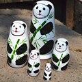 5 unids/set Regalo 5 En 1 De Madera Matryoshka Ruso Souvenirs Hechos A Mano Muñecas de la Historieta Pintada A Mano Día de La Victoria del Día Nacional