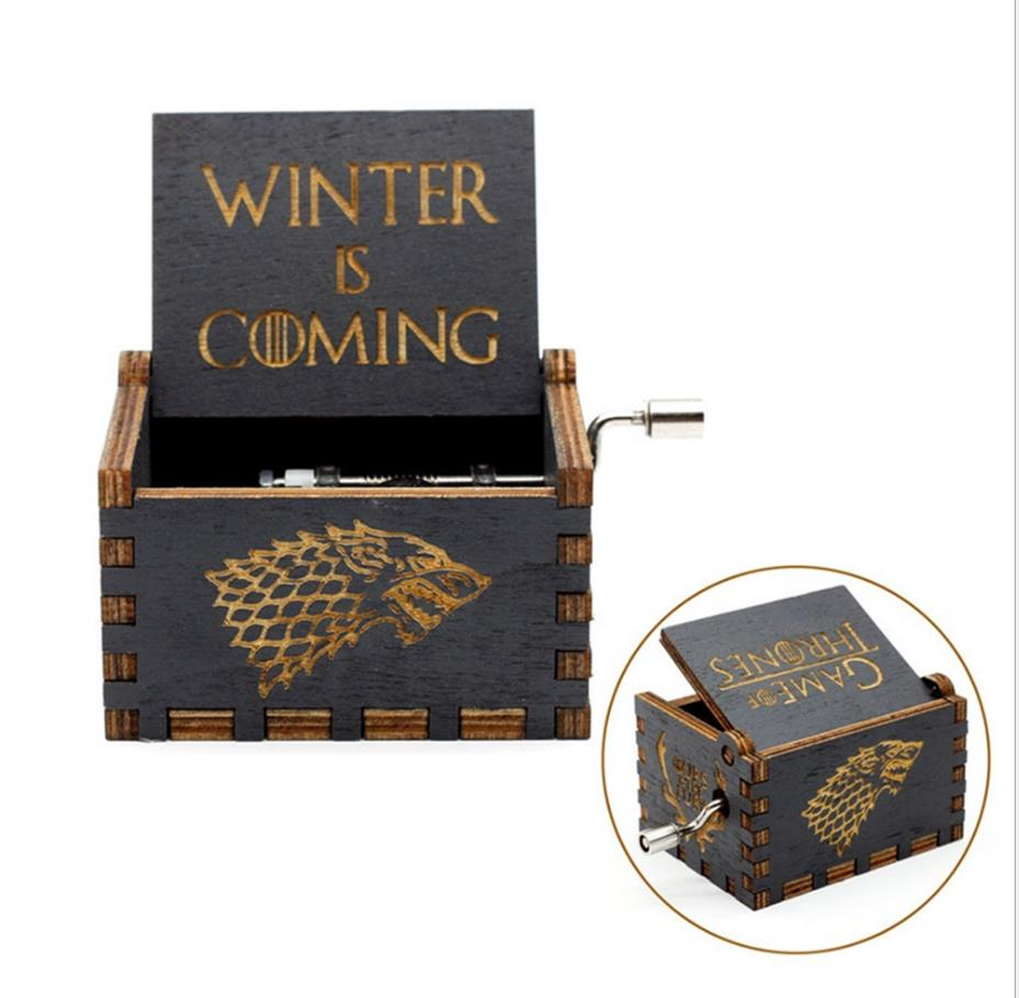 Winter is Coming Wooden Music Box Game of Thrones Lalaland moana princess elsa Anna gift for Christmas birthday new yearWinter is Coming Wooden Music Box Game of Thrones Lalaland moana princess elsa Anna gift for Christmas birthday new year