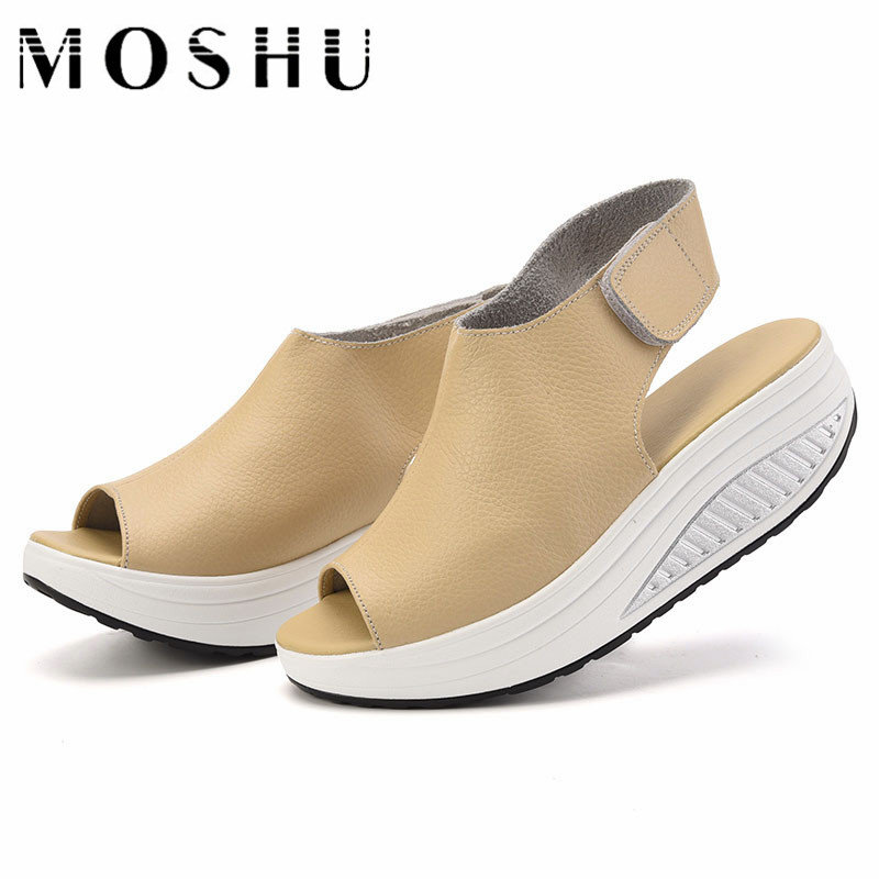 Designer Women Summer Shoes Creepers Platform Shoes Peep Toe Women Sandals Slip On Thick Heel Wedges Sandalias lanshulan wedges gladiator sandals 2017 summer peep toe platform slippers casual glitters shoes woman slip on flats creepers
