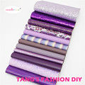 12pcs-High Quality NEW MIX STYLE purple color mix PU leather set/synthetic leather set/faux leather