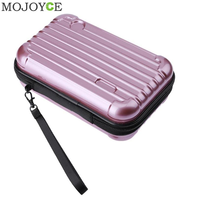 Luggage Design Fashion Cosmetic Bags Functional ABS+PC Travel Makeup Organizer Case Beauty Brushes Lipstick Toiletry Storage Box black professional makeup cosmetic storage train case box trays aluminum organizer artist hiker draws