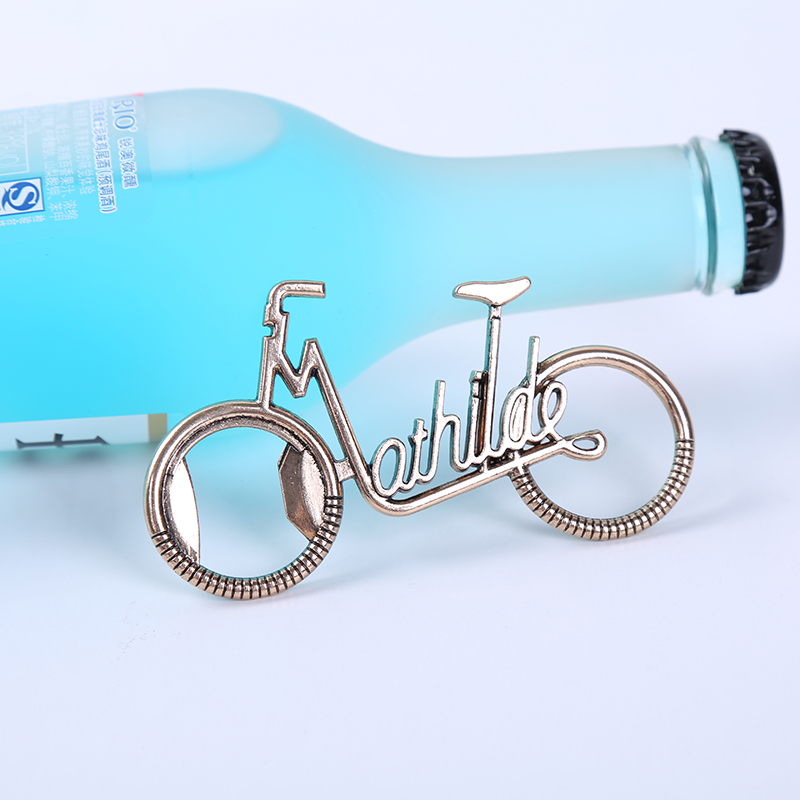 200pcs / lot Retro Metal Beer Bottle Opener Bicycle Bottle Openers With box For Wedding gift Favor