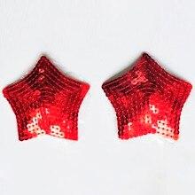 Дешевые красный сексуальная женская звезда блесток чебуреки груди бюстгальтер клей соска обложка, секс-игрушки для взрослых эротический костюм женское белье