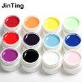 Alta Calidad Pure Color de Esmalte de Uñas de Gel Constructor Solid Set gel Para El arte del clavo 36 w lámpara UV