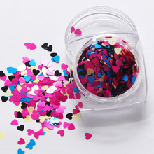 12 Colors DIY Nail jewelry supplies wholesale Symphony Sequin Heart-shaped Nail Accessories 3d Nail Art