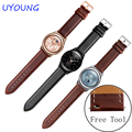 Para samsung gear s2 s3 clássico/forntier smart watch qualidade relógio de couro genuíno bandas bandas 20mm 22mm