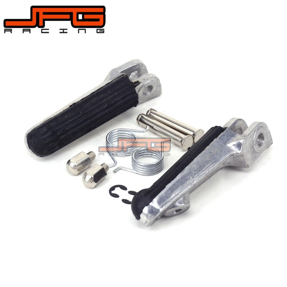 Footrest Front Foot Pegs For HONDA CBR250 MC19 MC22 NSR250 NSR50 NSR 75 80 CBR400 NC 23 29 30 35 VFR400 RVF400 Motorcycle