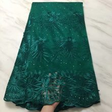 2019 New Design African Lace Fabric 2019 High Quality French Tulle Lace Fabric With Beads Nigerian Net Lace Fabrics Dress(China)