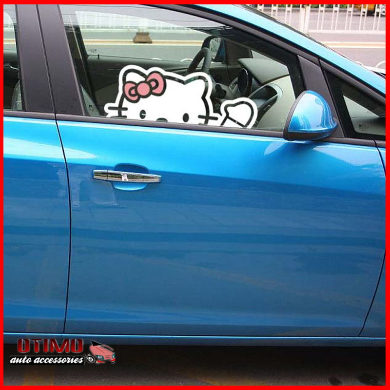 Lovely Hello Kitty Car Decal Stickers Window Sticker Cute Cartoon - Hello kitty car decal stickers