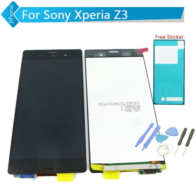Para sony xperia z3 lcd pantalla y pantalla táctil digitalizador asamblea + sticker adhesivo + herramientas de envío gratis