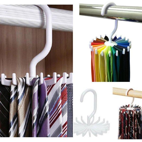Best Tie Racks For Closets: Aliexpress.com : Buy 1PCS Adjustable 20 Hooks Rotating