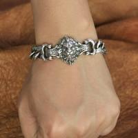 Высокая детальная цепь в виде льва 925 стерлингового серебра мужской байкер браслет в стиле панк TA146