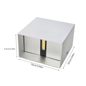 Image 5 - DONWEI applique murale en Aluminium LED, éclairage décoratif pour lintérieur, éclairage simpliste, pour chambre à coucher, escaliers, couloir, 12W, ac 110/mur LED V