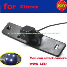 Fast shipping for sony ccd wide angle Car Parking reverse backup camera for Citroen Elysee c-Elysee 2014 Night Vision with LEDS(China)
