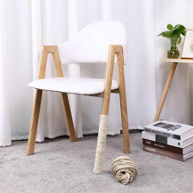 5m Natural Sisal Rope Durable 4 6 8mm Diy Making Desk Chair Legs Cat Scratching Post Toy Bingding Material For Cat Sharpen Claw