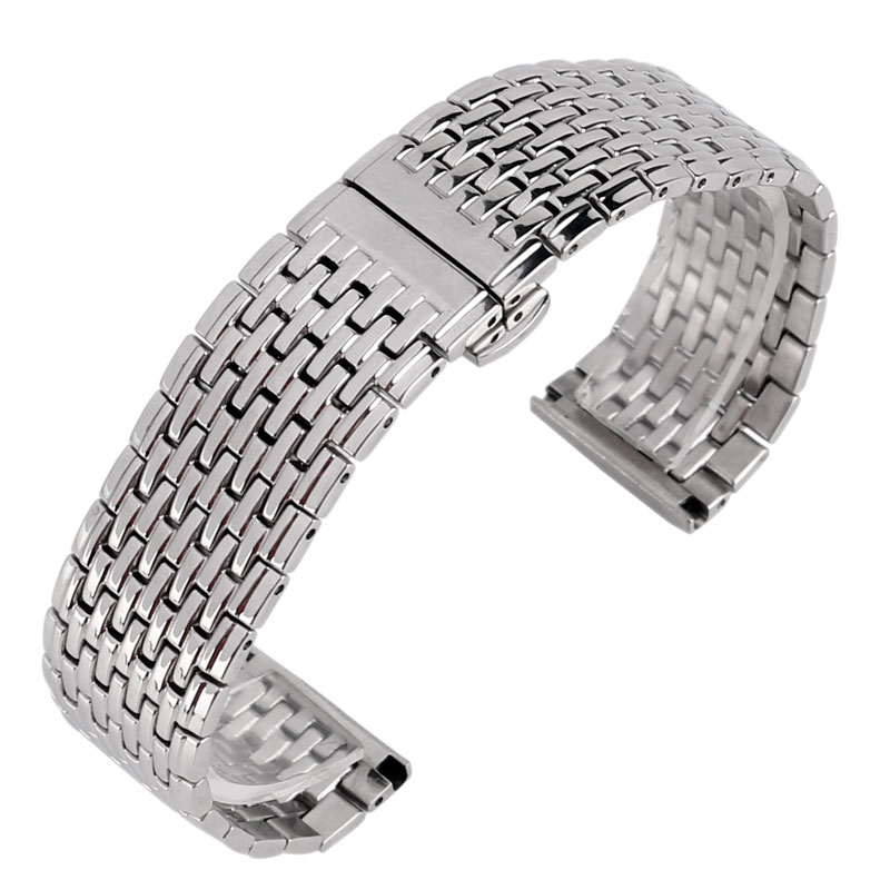 20mm 22mm Stainless Steel Watchband Men Women Silver Replacement High Quality Wrist Strap Bracelet Adjustable For Watch clarins eclat minute блеск для губ 02 apricot shimmer