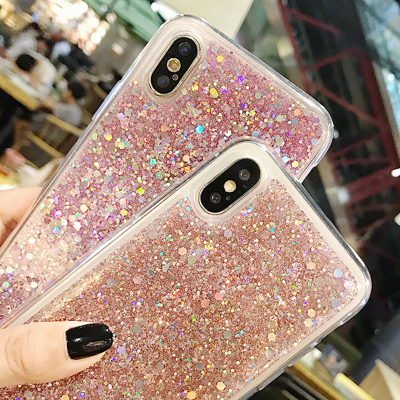 Bling Glitter Crystal Sequins Case for Huawei P8 Lite 2017 P9 P10 P20 Lite Pro Nova 2 plus 2S Honor 8 9 10 V10 Mate 10 Lite in Fitted Cases from Cellphones Telecommunications