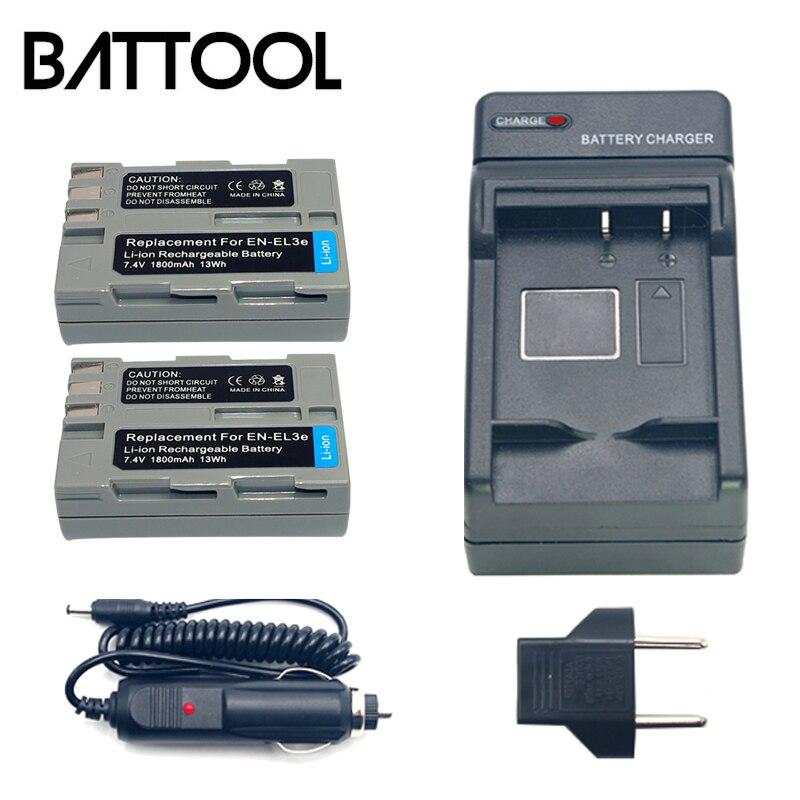 2X <font><b>EL3e</b></font> <font><b>EN</b></font> <font><b>EL3e</b></font> литий-ионный Перезаряжаемые Камера Батарея + Батарея Зарядное устройство для <font><b>NIKON</b></font> D30 D50 D70 D70S D90 D80 D100 d200 D300 D300S D700